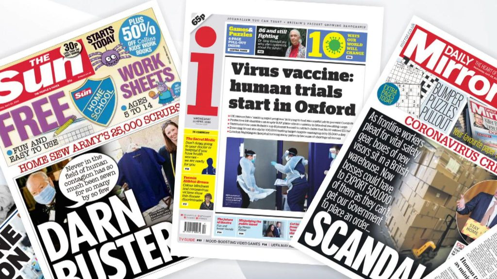 Read what the press say about us 1 skynews newspapers front pages 4974074